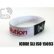 Braccialetti RFID elastico 15 mm ICODE SLI ISO 15693