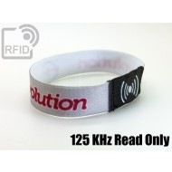 Braccialetti RFID elastico 15 mm Read Only 125 Khz