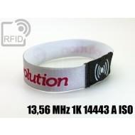 Braccialetti RFID elastico 15 mm 13,56 MHz 1K 14443 A ISO