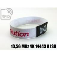 Braccialetti RFID elastico 15 mm 13,56 MHz 4K 14443 A ISO