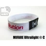 Braccialetti RFID elastico 15 mm NFC MIFARE Ultralight ® C