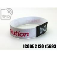 Braccialetti RFID elastico 15 mm ICODE 2 ISO 15693