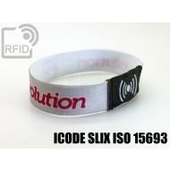 Braccialetti RFID elastico 15 mm ICODE SLIX ISO 15693