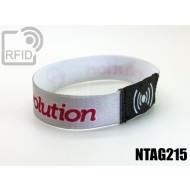Braccialetti RFID elastico 15 mm NFC NTAG215 1
