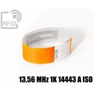 Braccialetti RFID Tyvek ® 13,56 MHz 1K 14443 A ISO