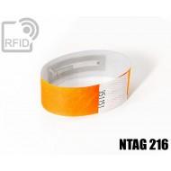 Braccialetti RFID Tyvek ® NFC NTAG216