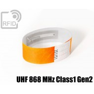 Braccialetti RFID Tyvek ® UHF 868 MHz Class1 Gen2