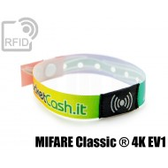 Braccialetti RFID in raso monouso MIFARE Classic ® 4K EV1 1