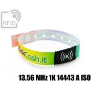 Braccialetti RFID in raso monouso 13,56 MHz 1K 14443 A ISO 1