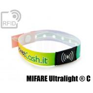 Braccialetti RFID in raso monouso NFC MIFARE Ultralight ® C 1
