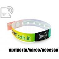 Braccialetti RFID in raso monouso apriporta/varco/accesso 1