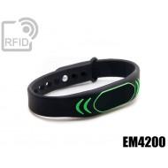 Braccialetti RFID silicone clip EM4200 1