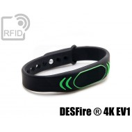 Braccialetti RFID silicone clip NFC MIFARE ® DESFire ® 4K EV 1