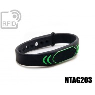 Braccialetti RFID silicone clip NFC NTAG203 1
