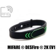 Braccialetti RFID silicone clip NFC MIFARE ® DESFire ® 2K EV 1