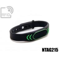 Braccialetti RFID silicone clip NFC NTAG215 1