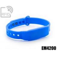 Braccialetti RFID silicone clip EM4200