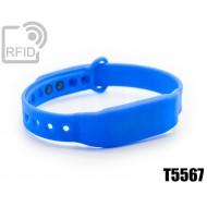 Braccialetti RFID silicone clip T5567