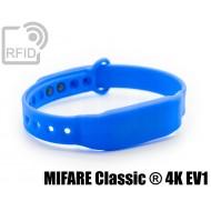 Braccialetti RFID silicone clip MIFARE Classic ® 4K EV1