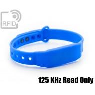 Braccialetti RFID silicone slim 125 KHz Read Only