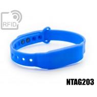 Braccialetti RFID silicone clip NFC NTAG203