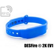 Braccialetti RFID silicone clip NFC MIFARE ® DESFire ® 2K EV