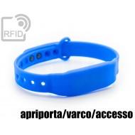 Braccialetti RFID silicone clip apriporta/varco/accesso