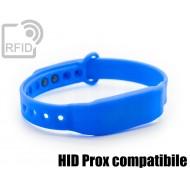 Braccialetti RFID silicone clip HID Prox compatibile
