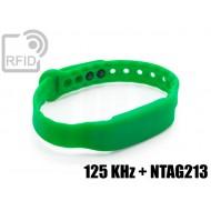 Braccialetti RFID silicone clip 125 KHz + NTAG213