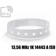 Braccialetti RFID vinile monouso 13,56 MHz 1K 14443 A ISO
