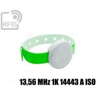 Braccialetto BLE temperatura e accelerometro 13,56 MHz 1K 14443 A ISO
