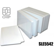 Tessere chip card bianche SLE5542