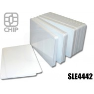 Tessere chip card bianche SLE4442