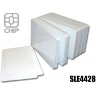 Tessere chip card bianche SLE4428 1