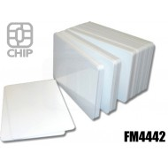 Tessere chip card bianche FM4442 1