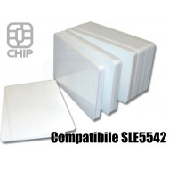 Tessere chip card bianche Compatibile SLE5542 1