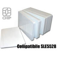 Tessere chip card bianche Compatibile SLE5528 1