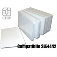 Tessere chip card bianche Compatibile SLE4442 1