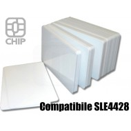 Tessere chip card bianche Compatibile SLE4428 1