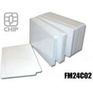 Tessere chip card bianche FM24C02 1