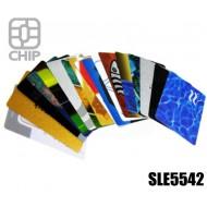Tessere chip card personalizzate SLE5542 1