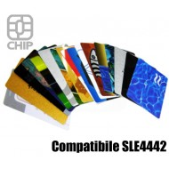 Tessere chip card personalizzate Compatibile SLE4442 1