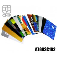 Tessere chip card personalizzate AT88SC102 1