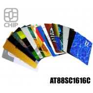 Tessere chip card personalizzate AT88SC1616C 1