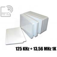 Tessere card doppia tecnologia 125 KHz + 13,56 MHz 1K