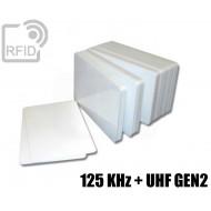 Tessere card doppia tecnologia 125 KHz + H3 UHF 1
