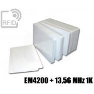 Tessere card doppia tecnologia EM4200 + 13,56 MHz 1K