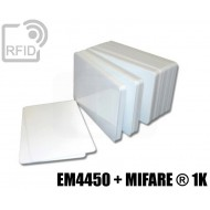Tessere card doppia tecnologia EM4450 + MIFARE ® 1K 1