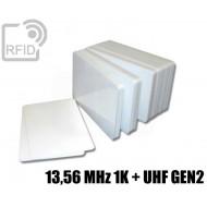 Tessere card doppia tecnologia 13,56 MHz 1K + H3 UHF