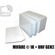 Tessere card doppia tecnologia MIFARE ® 1K + H3 UHF 1